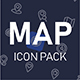 Map and location icon pack