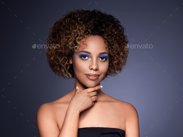 African american woman hair skin beauty - Stock Photo - Images