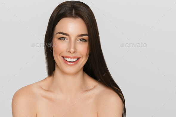 Beautyful skin care woman, beauty concept healthy face makeup, female model portrait. - Stock Photo - Images