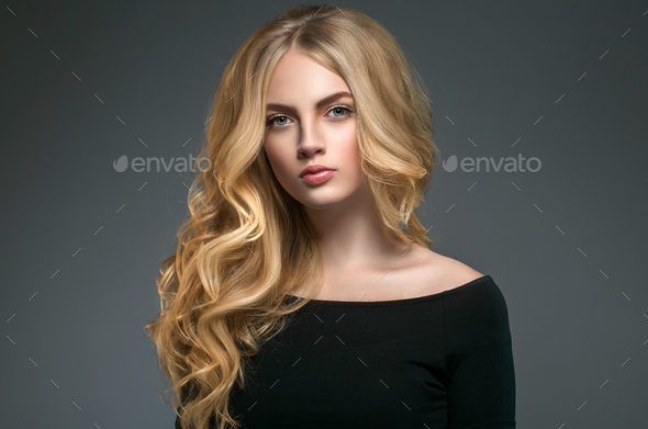 Beauty Woman face Portrait Beautiful Spa model Girl with Perfect Clean Skin. - Stock Photo - Images