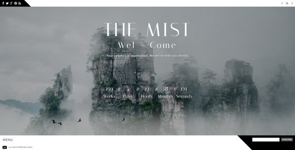 The Mist    Responsive Coming Soon Page