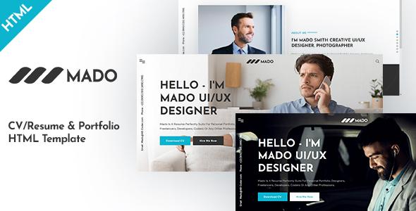 Mado - CV/Resume & Portfolio HTML Template