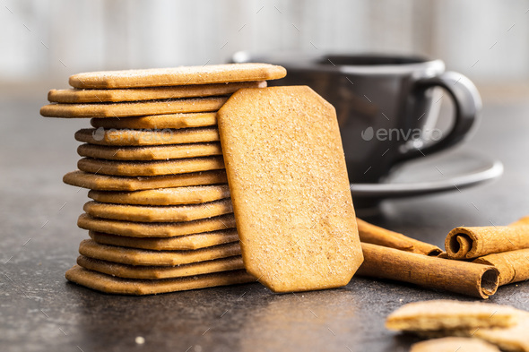 Sweet cinnamon biscuits. - Stock Photo - Images