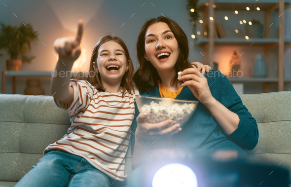 Mother and daughter spending time together. - Stock Photo - Images