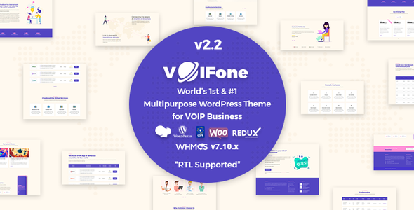 Download Voifone | Multipurpose VOIP WordPress Theme Free Nulled
