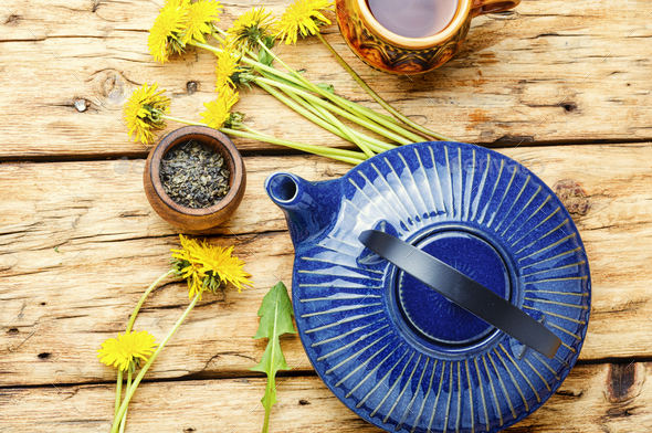 Dandelion herbal tea - Stock Photo - Images