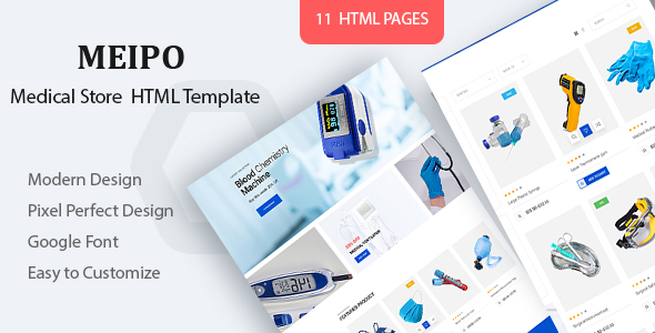 Excellent Meipo - Medical Store HTML Template