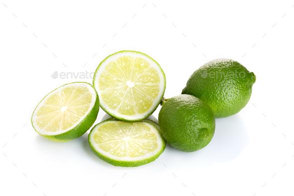 Fresh lime fruit isolated - Stock Photo - Images
