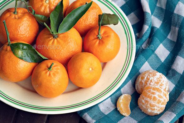 Fresh organic tangerines - Stock Photo - Images
