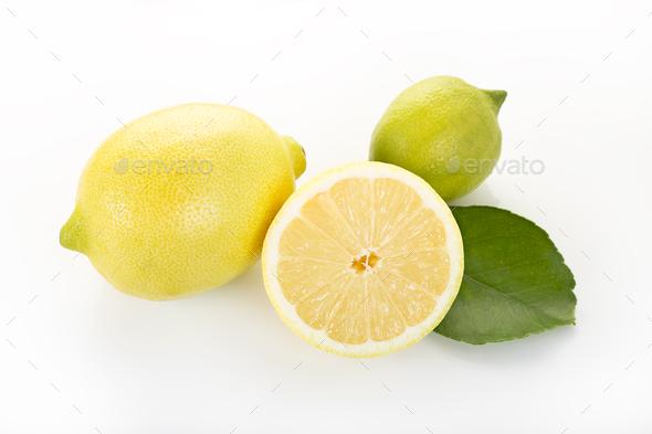 Lemon isolated on white - Stock Photo - Images