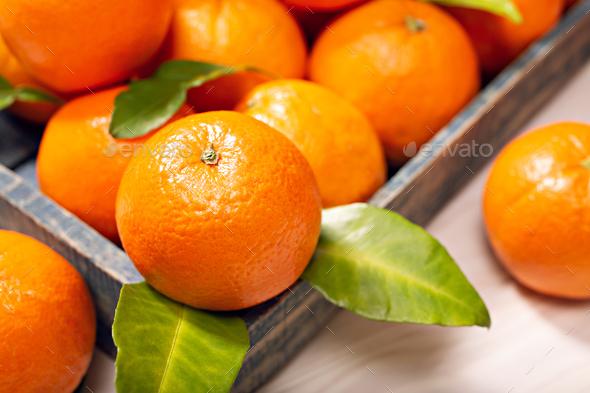 Fresh orange fruits - Stock Photo - Images