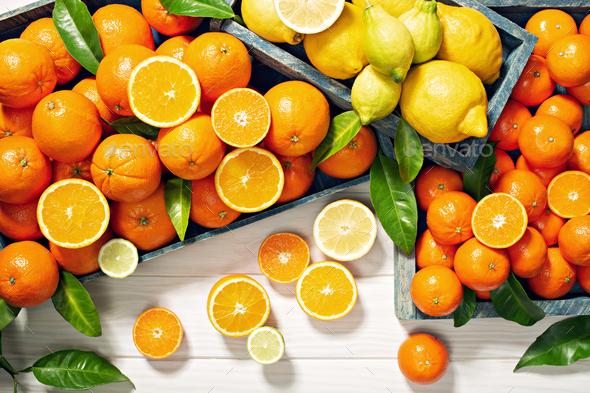 Fresh citrus fruits - Stock Photo - Images