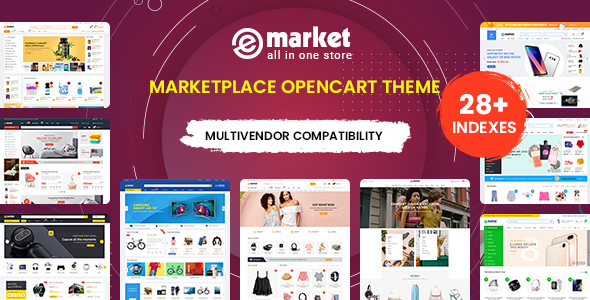 eMarket - Multi-purpose MarketPlace OpenCart 3 Theme (28+ Homepages & Mobile Layouts Included)