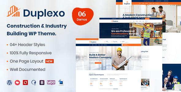 Download Duplexo – Construction Renovation WordPress Theme Free Nulled