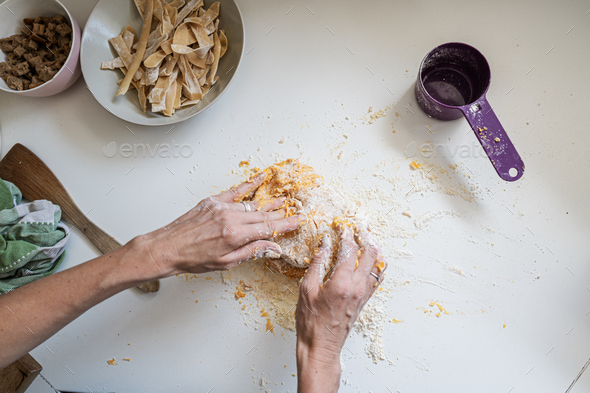 Making home made pasta - Stock Photo - Images
