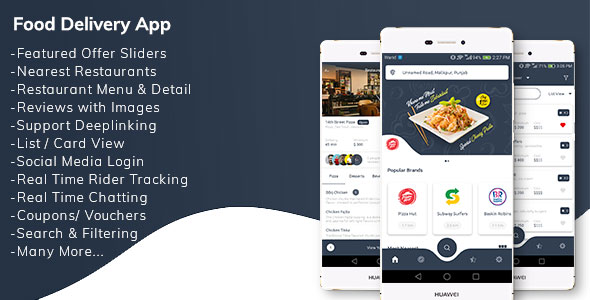 Restaurant Food Delivery App with Delivery Boy