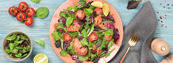 Salmon salad - Stock Photo - Images