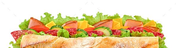 Submarine sandwich - Stock Photo - Images