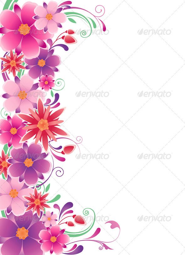 Floral Background with Flowers - Backgrounds Decorative