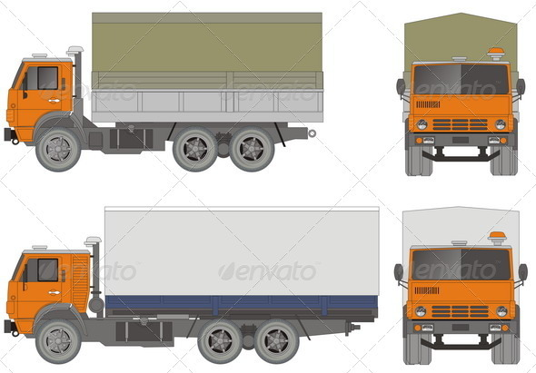 Heavy Trucks - Man-made Objects Objects