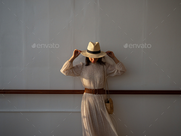 Young woman in a dress - Stock Photo - Images