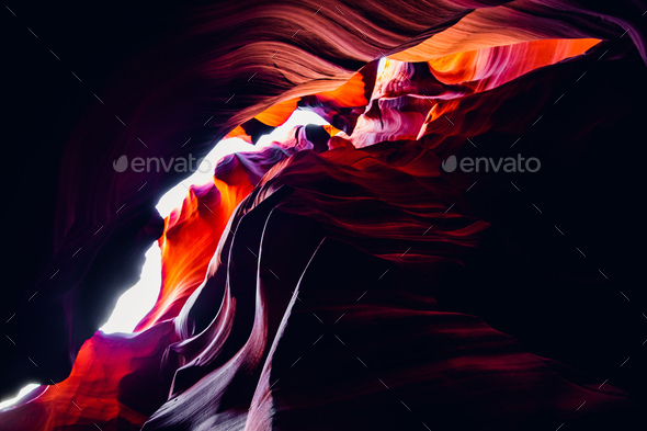 Beautiful colors at the Antelope canyon, Arizona - Stock Photo - Images