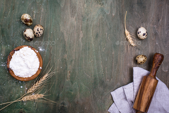 Baking concept with rolling pin - Stock Photo - Images