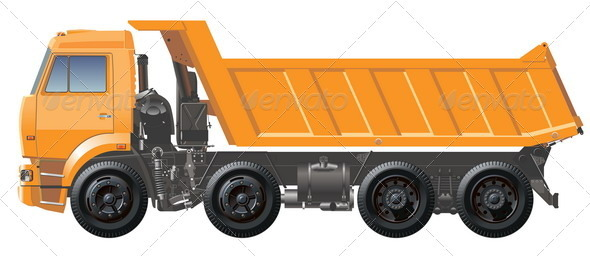 Dump Truck - Man-made Objects Objects