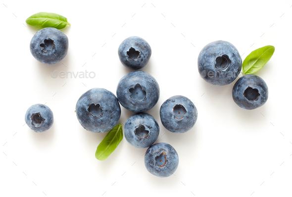 fresh ripe blueberries - Stock Photo - Images