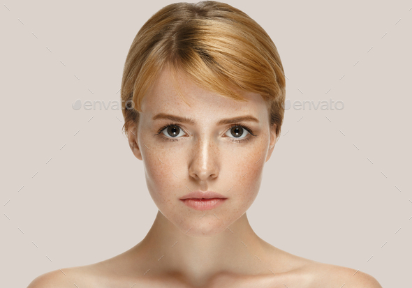 Woman beauty face close up - Stock Photo - Images