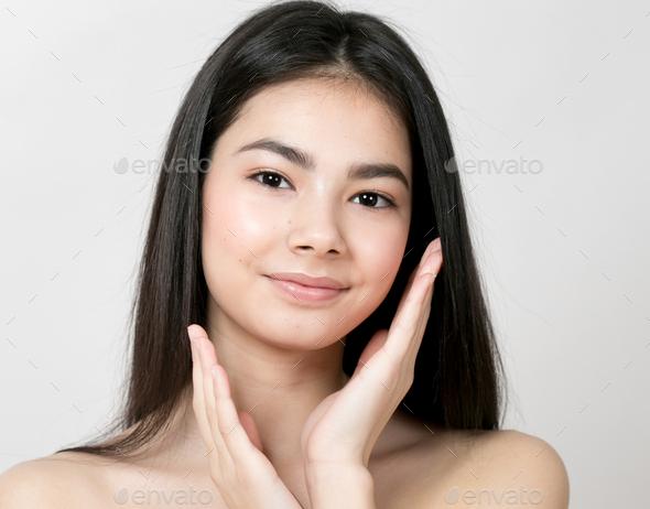 Asian woman girl beauty portrait - Stock Photo - Images