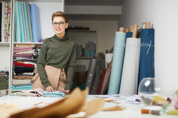 Designer in the workshop - Stock Photo - Images