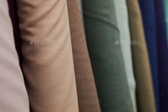 Textile in the shop - Stock Photo - Images