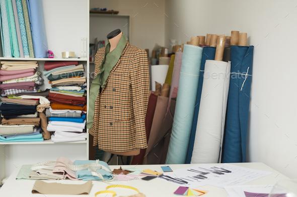 Model of jacket in workshop - Stock Photo - Images