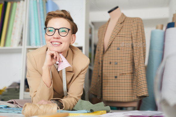 Successful tailor in the workshop - Stock Photo - Images