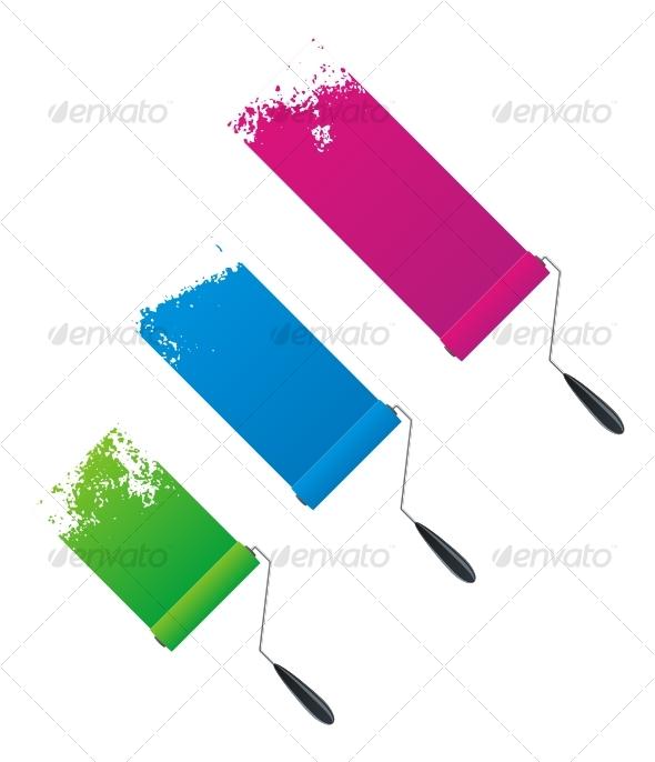 Paint rollers - Decorative Symbols Decorative