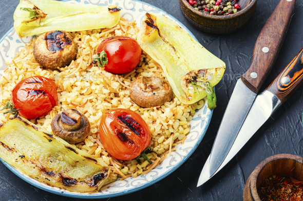 Traditional turkish pilaf - Stock Photo - Images