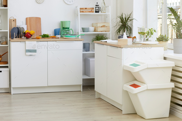 White kitchen at the house - Stock Photo - Images