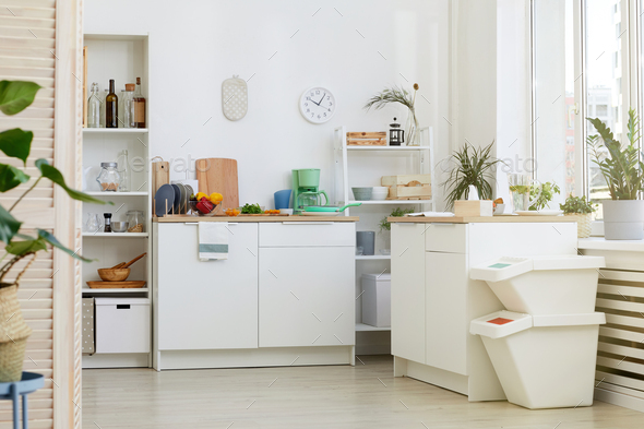 Cosy domestic kitchen - Stock Photo - Images