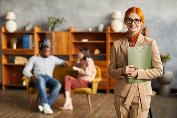 Successful psychologist at office - Stock Photo - Images