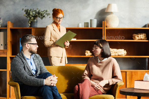 Business people discussing at meeting - Stock Photo - Images