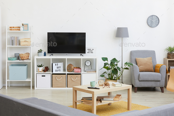 Modern room with TV - Stock Photo - Images