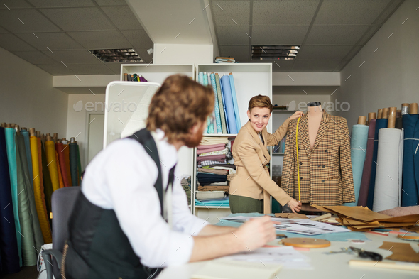 Designers working over new model - Stock Photo - Images