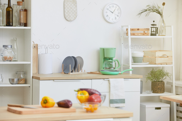 Domestic kitchen in the house - Stock Photo - Images