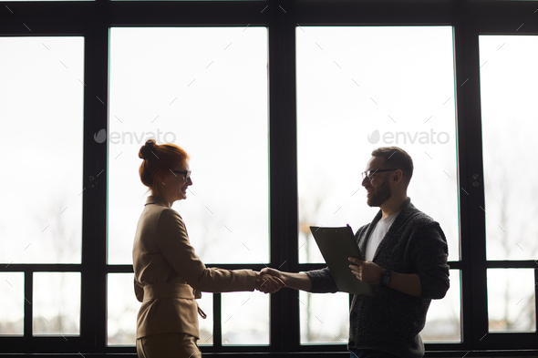 Business people shaking hands - Stock Photo - Images