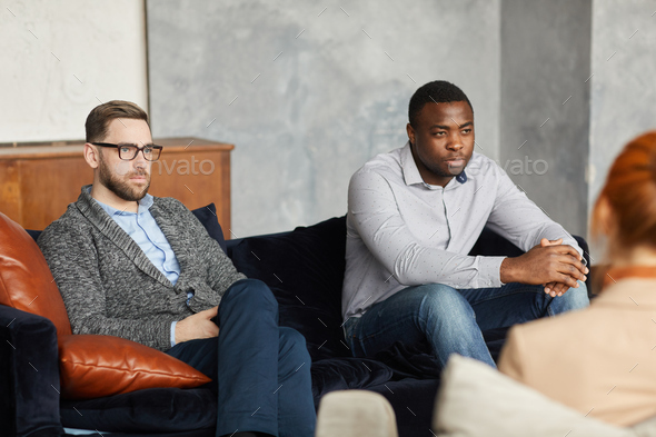 Two men thinking over their problems - Stock Photo - Images