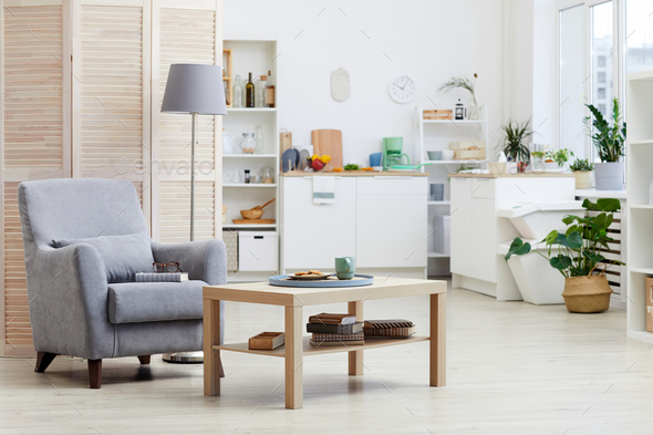 Modern living room at house - Stock Photo - Images
