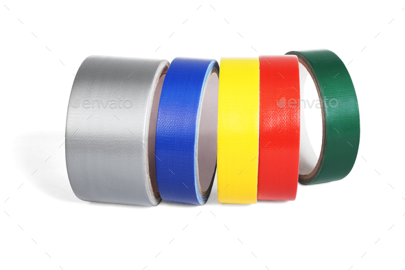 Row of Colour Cloth Tapes - Stock Photo - Images