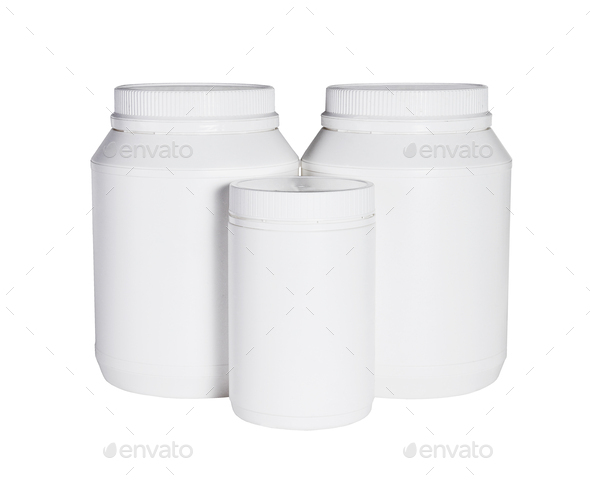 Three Plastic Containers For Health Food - Stock Photo - Images