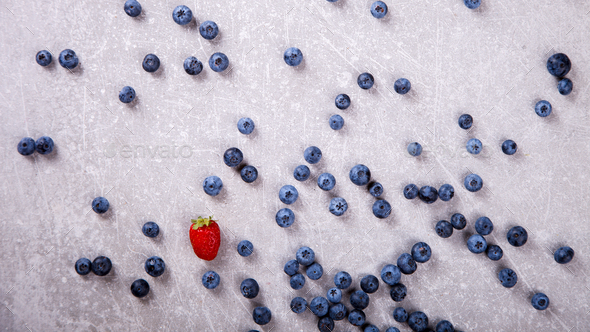 Various fresh summer Berries background .Food or Healthy diet concept. - Stock Photo - Images